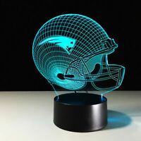 New England Patriots Collectible NFL LED Light Touch Lamp Tom Brady Home Decor