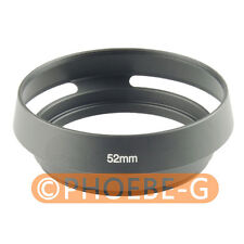 52mm Metal Black Vented Lens Hood for Canon Olympus Leica M Contax Fujifilm Sony