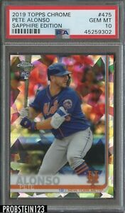 2019 Topps Chrome Sapphire Edition Pete Alonso New York Mets RC Rookie PSA 10