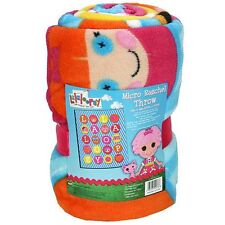 "Lalaloopsy throw blanket micro raschel plush fleece pink 50"" x 60"""