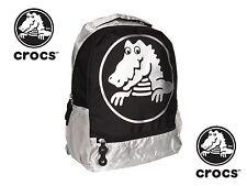 Crocs Duke Backpack School Sport Hiking Gym Travel Bag Black NWT