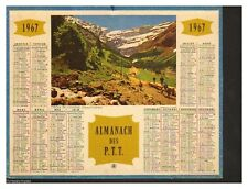 ALMANACH CALENDRIER  PTT  1967 BE cadeau ANNIVERSAIRE