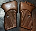 Bersa Thunder Firestorm 22 380 Pistol Grips Dark Brown Checker Pattern Plastic