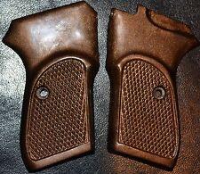 Bersa Thunder 380 Pistol Grips dark brown checker pattern plastic