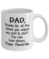Funny Gift For Dad Coffee Mug Father's Day Thank You Daddy Cup From Son Daughter