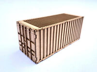 20ft SHIPPING CONTAINER LASER CUT KIT OO SCALE 1:76 MODEL RAILWAY LX180-OO