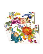 Mackenzie Childs Flower Market (Set of 4) White Cork Back Placemats New m20-au