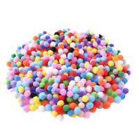 1X(500 StüCk 10Mm Weiche Runde Flauschige Pompons Ball Gemischte Farbe DIY D q1e