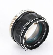 58MM  58/1.4 MINOLTA MC ROKKOR-PF (HEAVY DUST, DEBRIS), ENGRAVED/214789