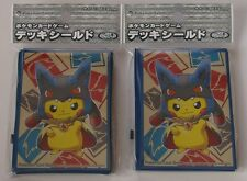 Japanese Pokemon Official Card Sleeves Mega Lucario Pikachu 2 Packs (64 Sleeves)