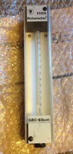 GEC Elliott rotameter 1100 natural gas flow meter
