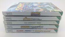 5 x Wii Sonic Bundle secret rings unleashed sega superstar tennis mario colours