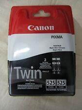 2 original Canon Tintenpatronen PGI-525 BK Schwarz Black im Twin-Pack Rechnung