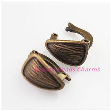 6Pcs Antiqued Bronze Lovely Triangle Bracelet Clasp Connectors 8x13mm