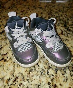 Nike Air Jordan Retro 4 IV Metallic Purple 809041-400 Toddler Size 7C 2019