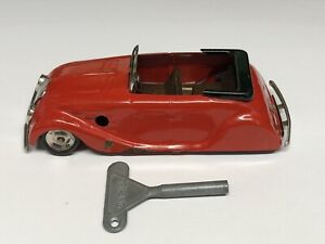 Vintage Tri ang Minic Clockwork Tinplate Streamline Sports Car