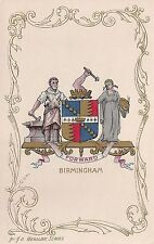 Birmingham Coat of Arms Heraldic Series Postcard