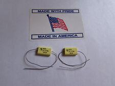 .68uF, 100V, 5%, Electrocube Axial Capacitors Audio (Quantity: 2 Pieces) U.S.A.