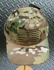 Tactical Operator's Cap / Hat w/ Embroidered U.S. Flag - Multicam Camo by Rothco