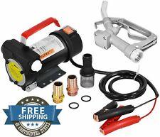 Vintage Kerosene Oil 12 Volt Electric Fuel Pump Transfer Hose Nozzle Amp Extractor
