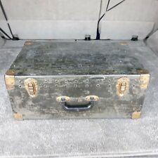 """Vintage 21"""" X 14"""" X 9"""" Black Trunk Suitcase"""