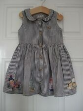 NEXT GIRLS 9 TO 12 MONTHS BICYCLE BOATS DRESS 9 - 12
