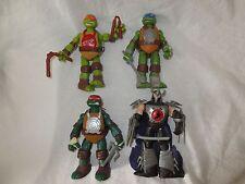 Teenage Mutant Ninja Turtle x 3 and Shredder Action Figure Playmates 2012 Viacom