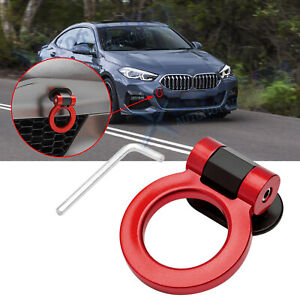 For BMW 3 Series JDM Red Track Racing Style Dummy Tow Hook Ring Look Decoration