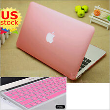 "2in1 Quicksand Marble Silk Rainbow Matte Hard Case Cover for Pro 13"" Air 11""/13"""