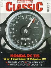 + Motorrad Classic 05/2000 - Honda RC 115 - Zündapp KS 600 - Wanderer K500