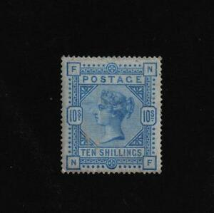 SG 183a VICTORIA  10/  Shilling Pale ultramarine   letters NF CAT £2500.00 UM