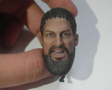 Custom 1/6 Scale Roar 300 King Leonidas Head Sculpt For Hot Toys Muscular Body