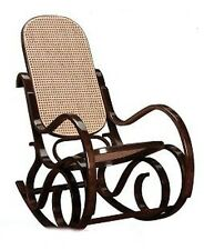 ROCKING CHAIR FAUTEUIL TEINTE NOYER CANNAGE VERITABLE