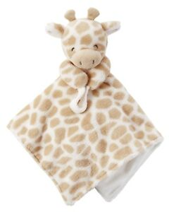 NWT Carters Plush Stuffed Giraffe Soft Security Blanket Lovey Pacifier Holder