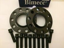 ALLOY WHEEL SPACERS 12mm X 2 BLACK BIMECC + 10 X BOLTS FOR VW GOLF 5X112 57.1