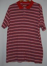 Vintage Ralph Lauren Polo Jeans Rugby Shirt Red Blue White Striped XXL Cotton