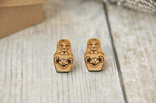 Little Russian Doll wooden studs