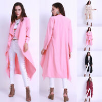 New Women's Loose Maxi Long Windbreaker Cape Autumn Fashion Cardigan Coat Jacket