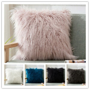"""Luxury Fluffy Shaggy Cushion Covers Soft Cozy Pillow Case Home Plush Size16""""~24"""""""