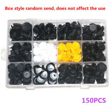 150X Car Truck Door Panels Bumper Cover Fender Fasteners Clips Boxed Kit Plastic