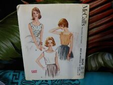 1960 McCall's tops sewing pattern 5634 14/34 bust