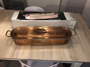 poissonnière en cuivre De Buyer Faymont longueur 62cm, hauteur 12cm
