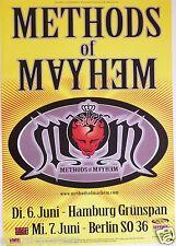 Methods Of Mayhem 1999 Tour German Concert Poster - Motley Crue's Tommy Lee