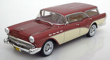 1957 Buick Century Caballero Estate Wagon Red Met. by BoS Models LE of 504 1/18