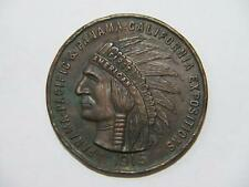 PANAMA PACIFIC EXPOSITION 1915 CALIFORNIA SOUVENIR INDIAN HEAD LARGE PENNY 🌈⭐🌈