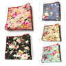 Mens Stylish Floral Flower Cotton Pocket Square Hanky Wedding Party Handkerchief
