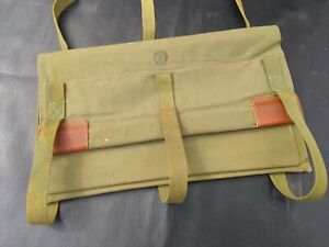 Vintage Klein Tool Bag Lineman Olive Drab Military Color w Straps Electrician