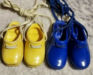 "VintAge Crissy shoes clogs fit 15""doll mia blue plus yellow(bit smaller)  READ!!"
