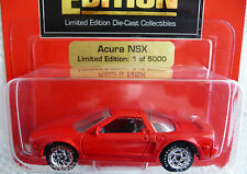 Johnny Lightning 1995 '96 ACURA NSX Honda NSX Limited 1/5000 SPECIAL EDITION Red