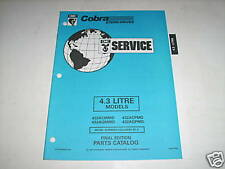 OMC Cobra 4.3 Liter Stern Drives Parts Catalog 1994